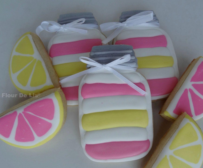 Lemonade Cupcakes in a Jar Cookies.via Etsy.