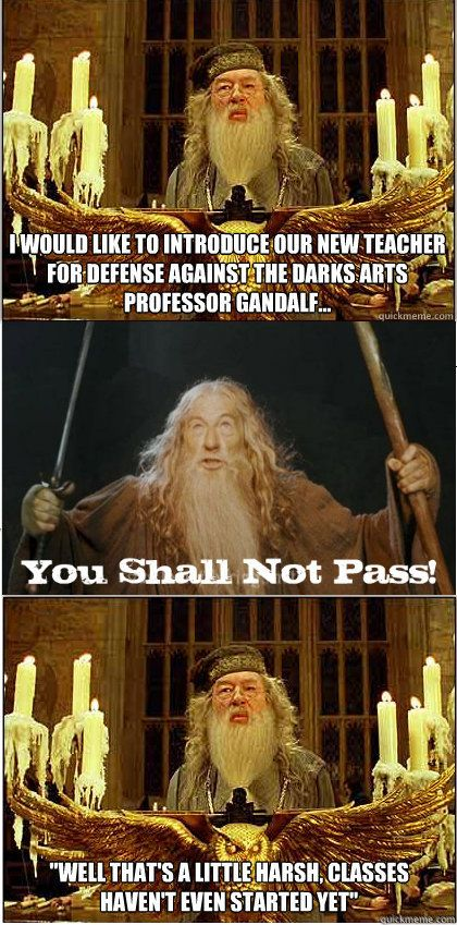 That Would Be A Good Defense Against The Dark Arts Teacher Wonder