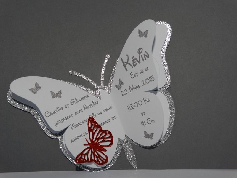 faire part naissance papillon tout en clat deco pinterest papillon papeterie et faire. Black Bedroom Furniture Sets. Home Design Ideas