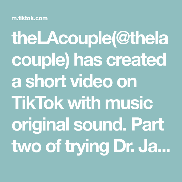 Thelacouple Thelacouple Has Created A Short Video On Tiktok With Music Original Sound Part Two Of Trying Dr Jarts In 2021 How To Make Earrings Songs The Originals