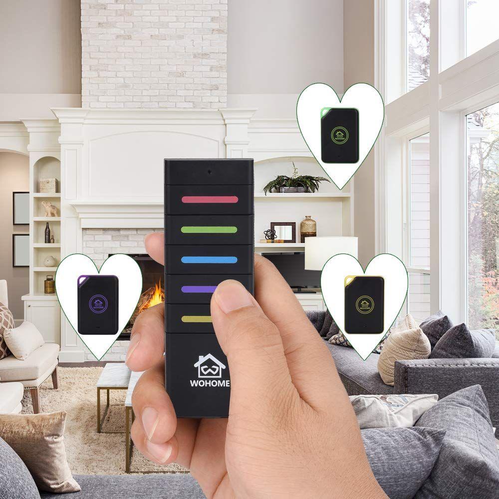 Wireless Key Finder 5 Receivers WOHOME Key Tracker Anti-Lost Alarm RF Item Key Locator for Key Chain Tracker Pet Tracker Wallet Tracker Remote Finder