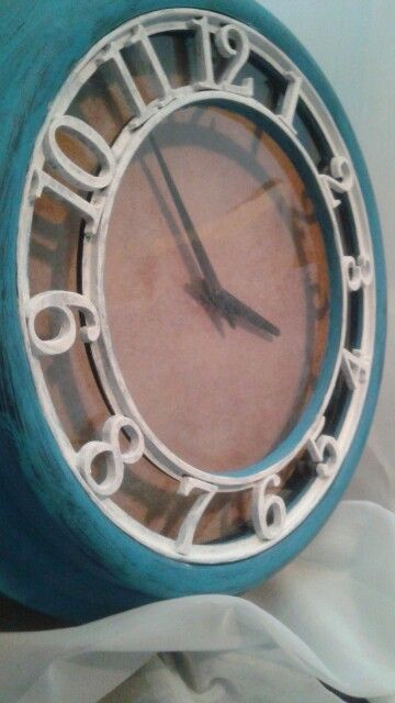 Chalk painted clock
