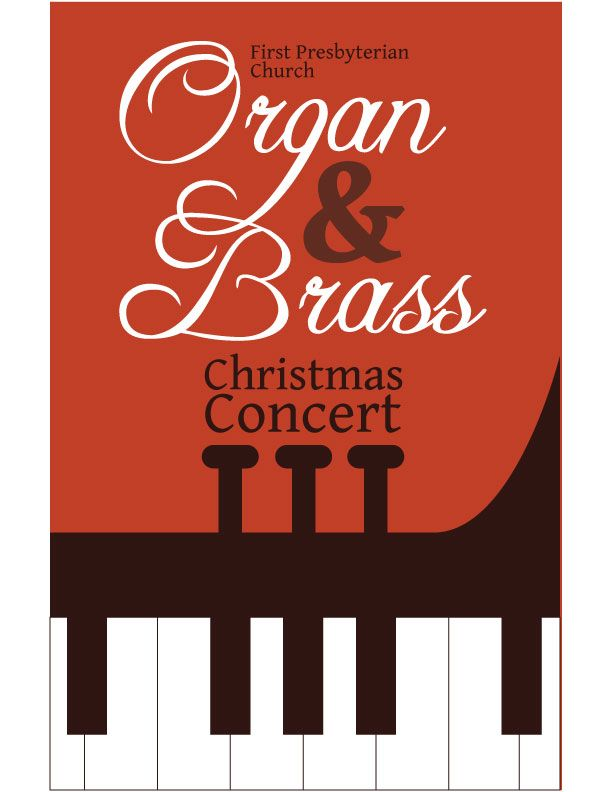 A Christmas Concert Program Cover Design  Carmen Rimple