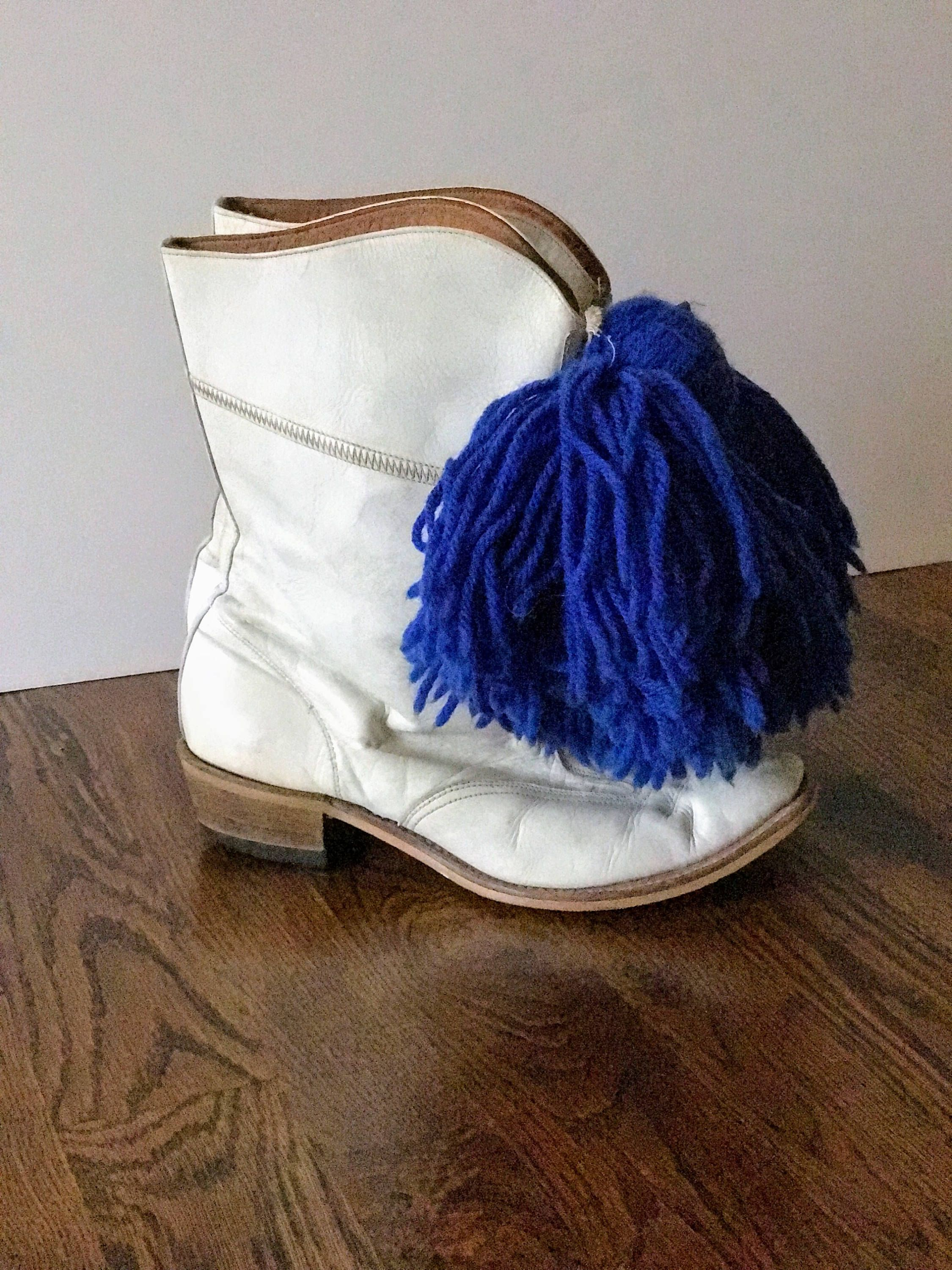 86b0f865e54f2 Vintage Leather Boots, Majorette Boots, Drill Boots, White Boots ...