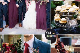 Plum Burgundy And Navy Blue Wedding For Fall Winter Fabmood Weddingcolor Weddingtheme Fallwedding Autumnwedding Winterwedding