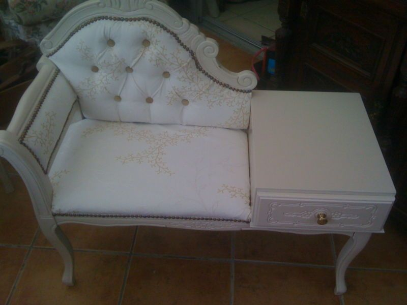 SHABBY CHIC TELEPHONE TABLE SEAT | eBay - 38 Best Telephone Table / Gossip Bench Images On Pinterest