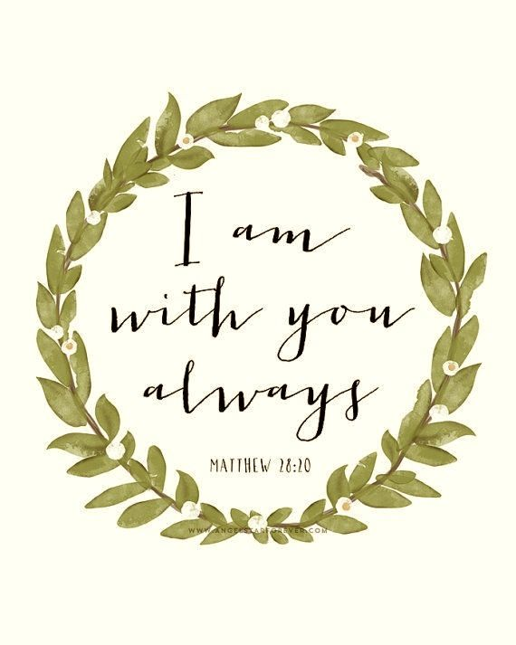 I Am With You - Scripture, Bible Quote PRINTABLE INSTANT DOWNLOAD 8x10 Printable…