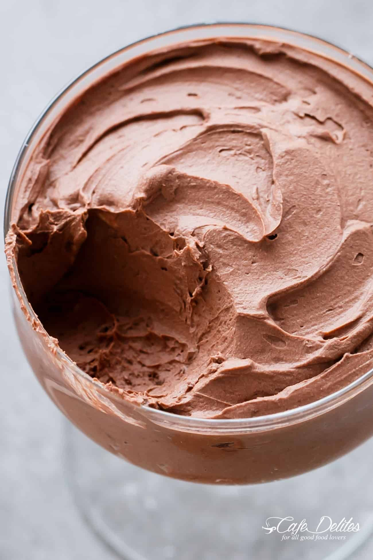 3 Ingredient Chocolate Mousse (Low Carb Dairy free