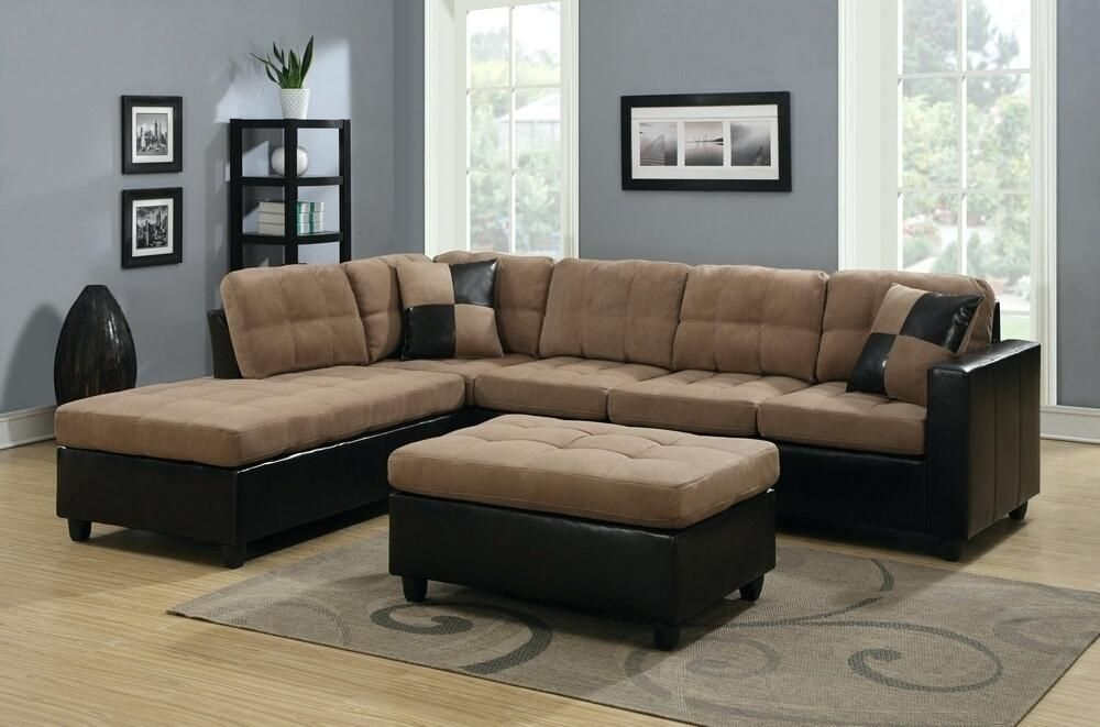 Leather Suede Sectional Sofa - Home Ideas