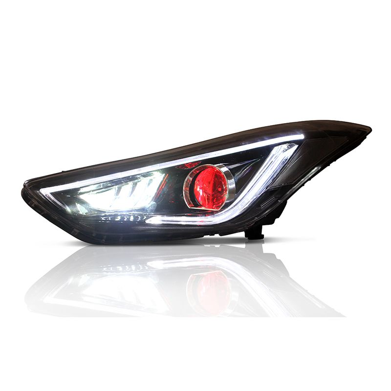 Vland Manufacturer Factory Wholesales Fifth Generation Avante Facelift Head Lamp Led 2012 2015 Headlight For Hyundal Elantra View For Elantra Headlights Vland Elantra Headlamp Motorcycle Accessories