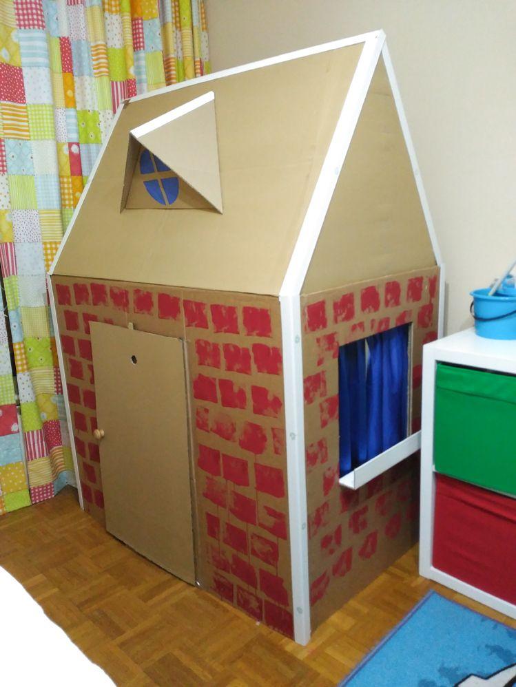Juguetes Reciclados Para Niños Una Casa De Cartón Al Rincón De Crear Casa De Cartón Casas De Cartón Juguetes Reciclados Para Niños