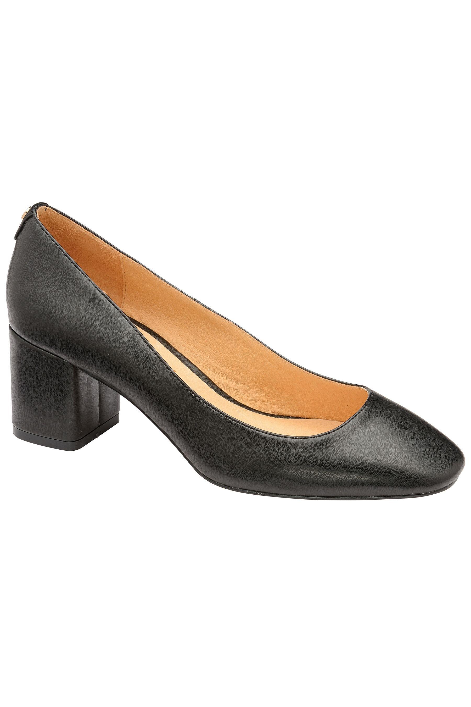 Ravel Low Heel Court Shoe Black Court Shoes Heels Low Heels