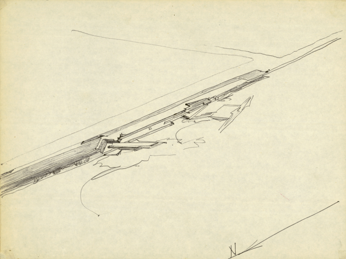 Lvaro siza le a swimming pools in palmeira 1967 for Swimming pool sketch