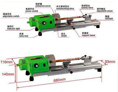 Precise Mini Wood Lathe Machine Mini Diy Woodworking Lathe Drill For