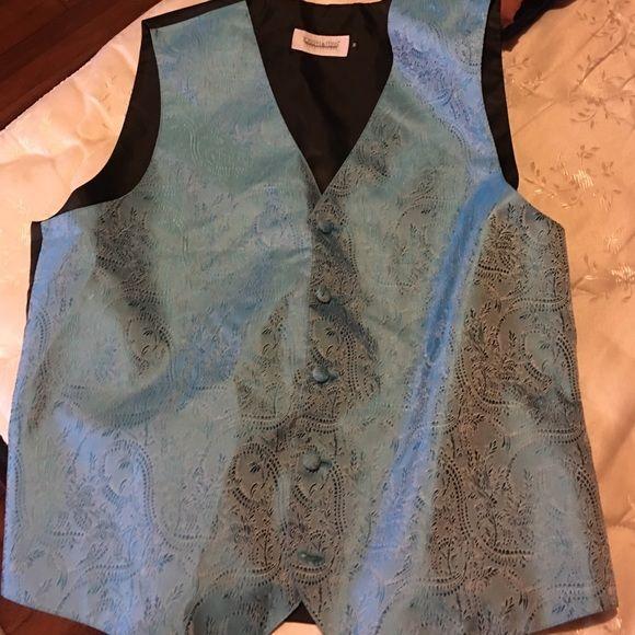 Vest Sky blue and black vest Jackets & Coats Vests