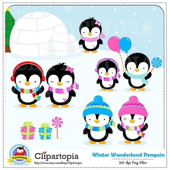 penguin clipart winter penguin wonderland digital clipart rh pinterest ca winter wonderland clipart black and white winter wonderland christmas clipart