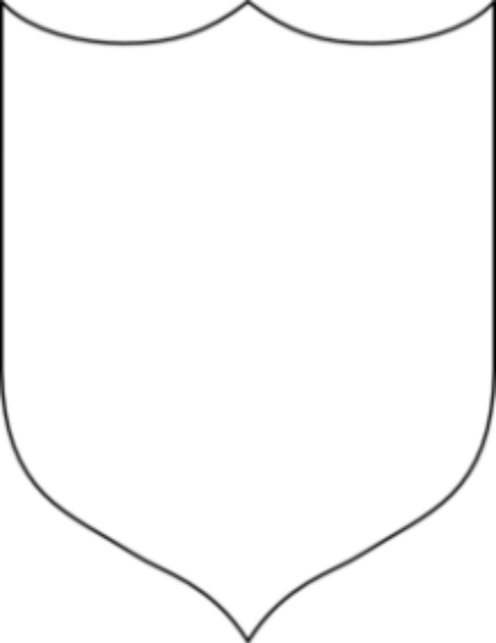 Image Result For Shield Coloring Page Shield Template Clip Art