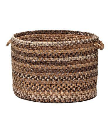 Love This Cashew Oak Harbor Wool Utility Basket On #zulily! #zulilyfinds