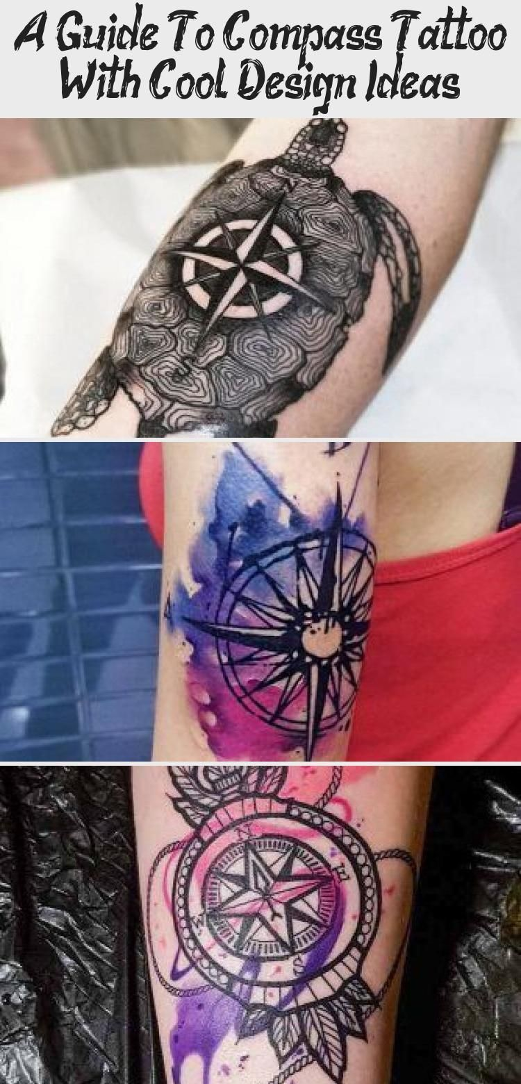A Guide To Compass Tattoo With Cool Design Ideas - Tattoo -  Small Watercolor Tattoo On Back #watercolortattoo ★ Simple, small, feminine compass tattoo ideas  - #Compass #compasstattoo #Cool #design #flowertattoo #Guide #Ideas #moontattoo #Tattoo #tinytattoo
