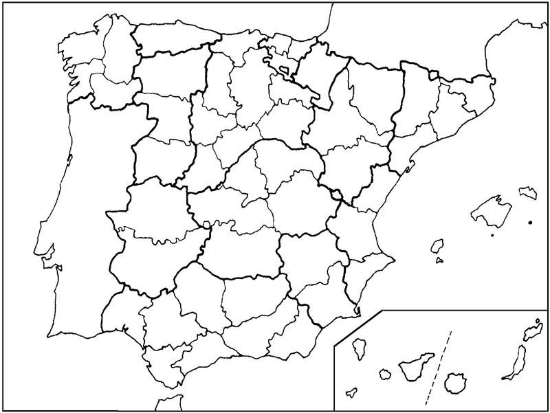 Provincias E Islas De España Asia Map Social Science Map