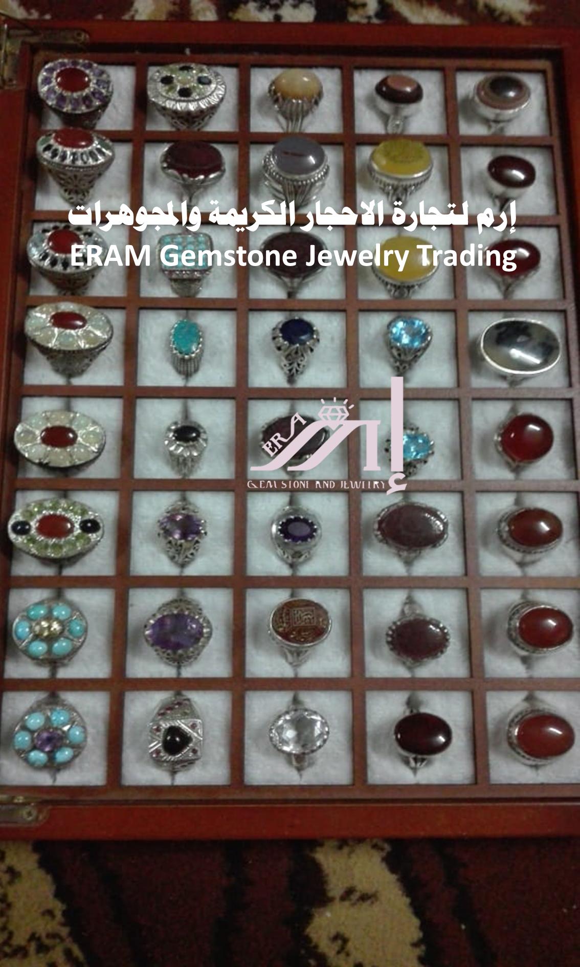 يناسب أي وقت لك خواتم نسائي عصري يمني عقيق احجار كريمة متنوعة طبيعي 100 للعرض Gemstones Gemstone Jewelry Holiday Decor