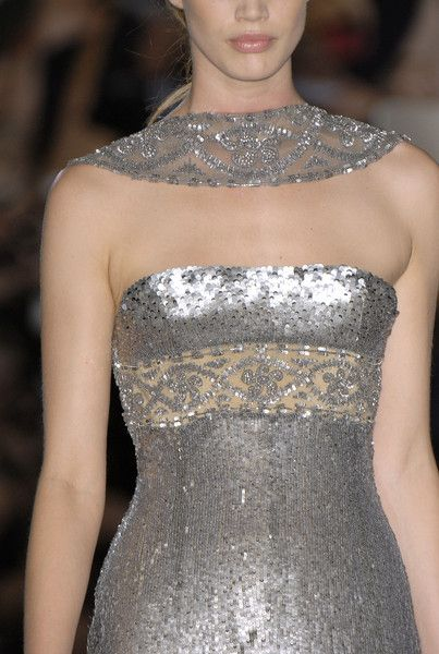 Elie Saab At Couture Fall 2006 Zilver Grijs Goud