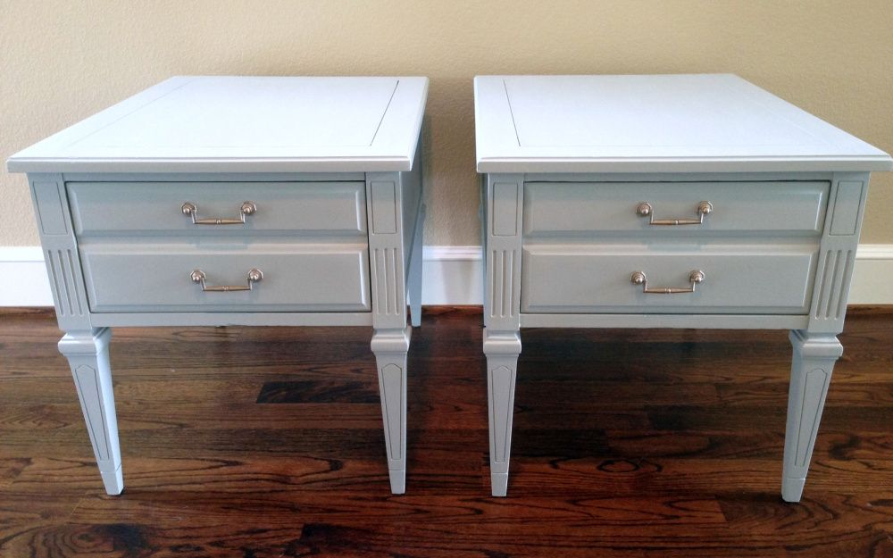 Vintage Hammary End Tabled Painted With Diy Chalk Paint Diy End