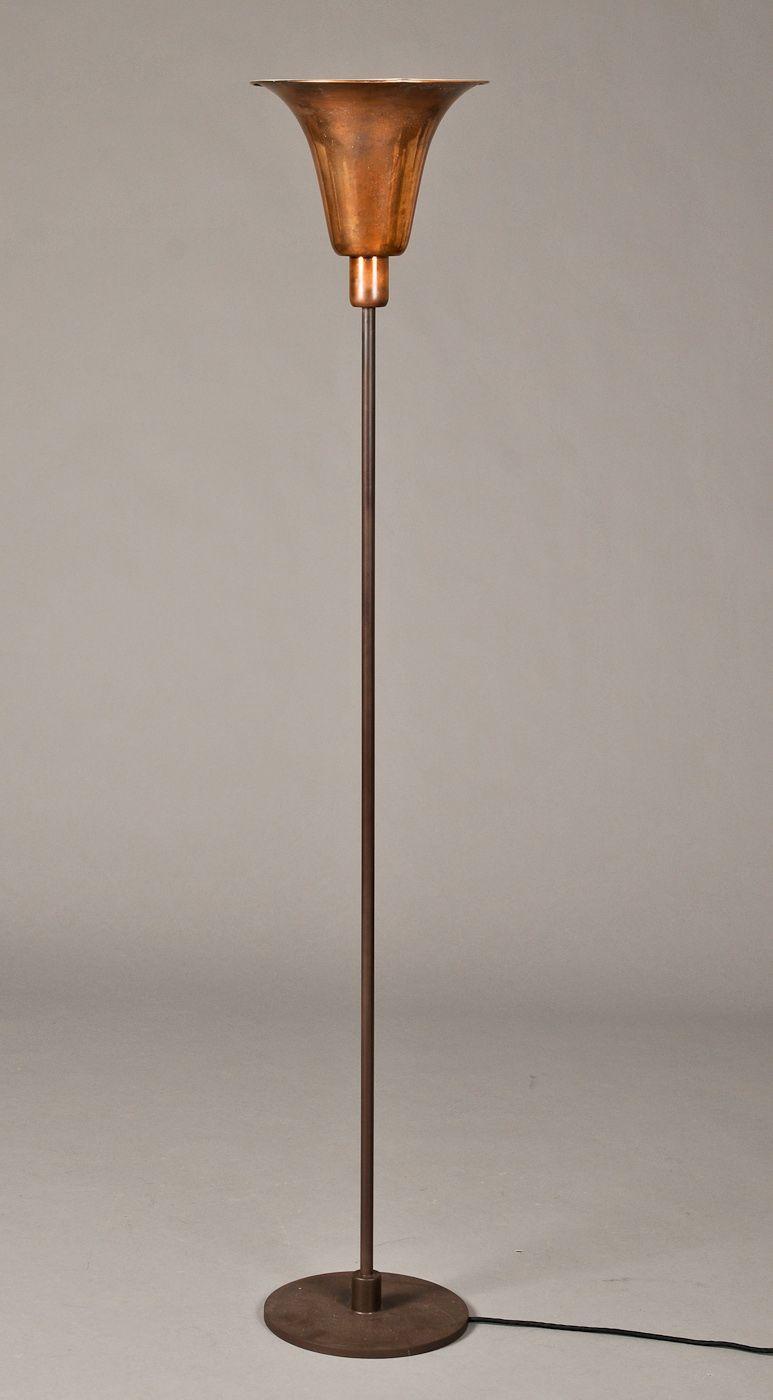 Louis Poulsen Bridge Floor Lamp Art Deco Floor Lamp With Shade Of Copper Produced By Louis Poulsen At The Art Deco Floor Lamp Art Deco Lighting Floor Lamp