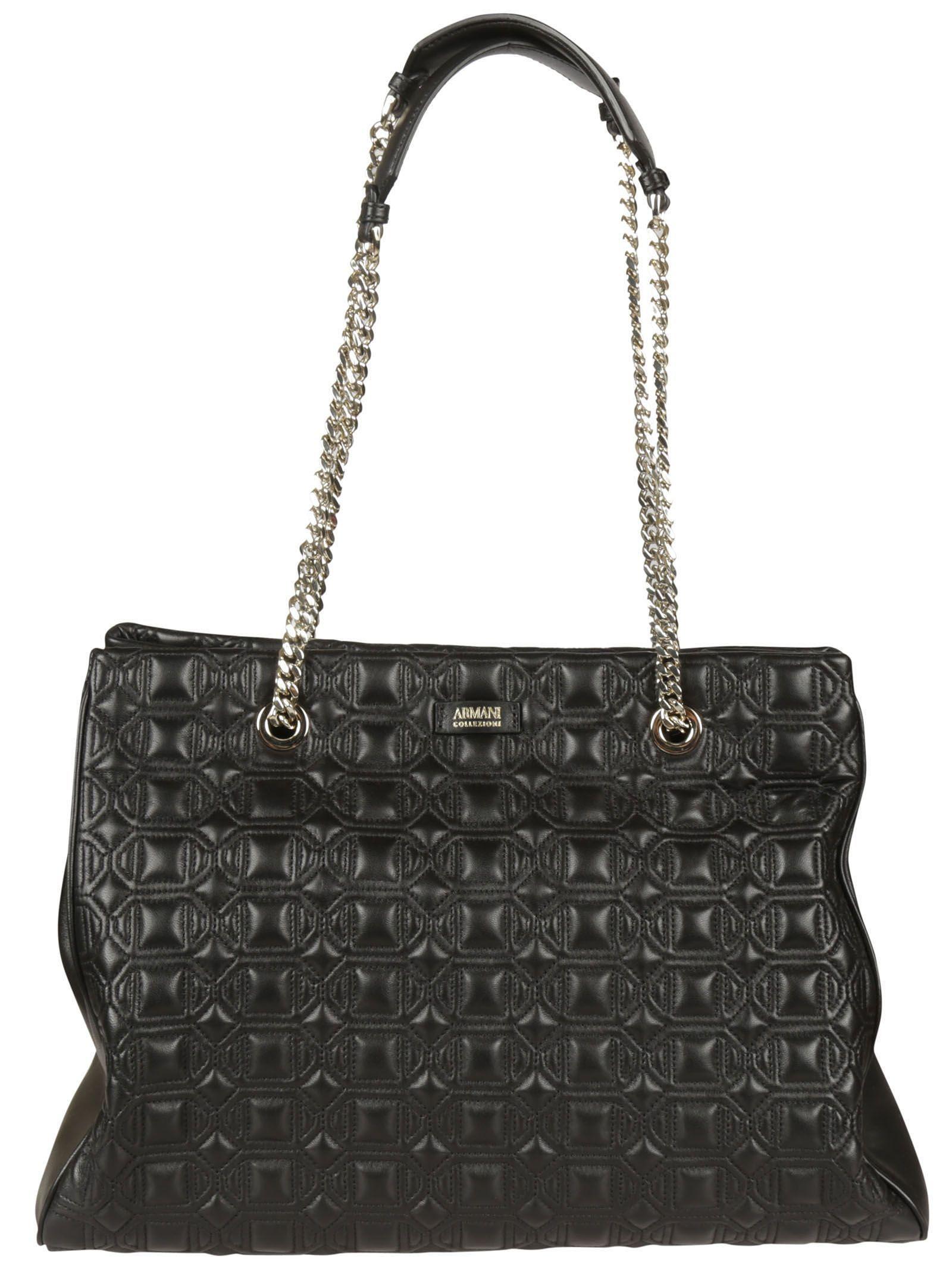 Armani Collezioni Nappa Leather Shopper Bag  58b0304105981