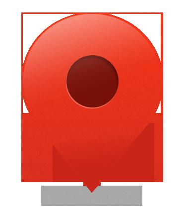spot_icon.png (375×440) Pin map, Map, Vodafone logo