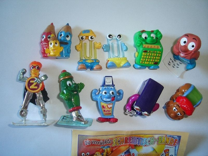 SQUEAKY HEADS ANIMALS /& ROBOTS FIGURES TOYS COLLECTIBLES KINDER SURPRISE SET