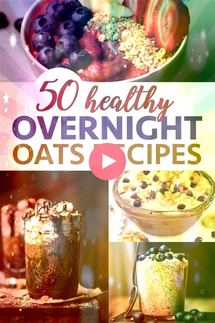 Healthy Overnight Oatmeal Recipes  50 Healthy Overnight Oatmeal Recipes 50 Healthy Overnight Oatmeal Recipes Chickpea Quinoa Salad with spinach pomegranate red onion cucu...