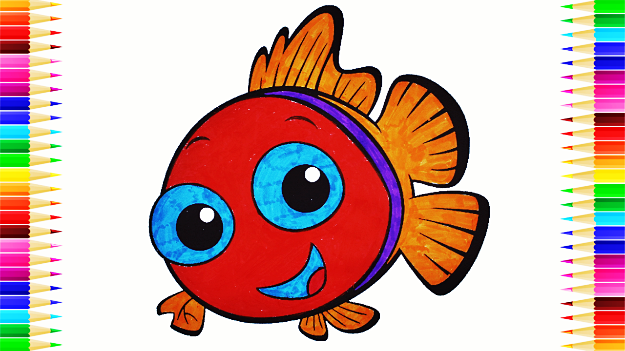 Cute Fish Coloring Book 🐠 Fish Coloring Page for Kids | Coloring ...