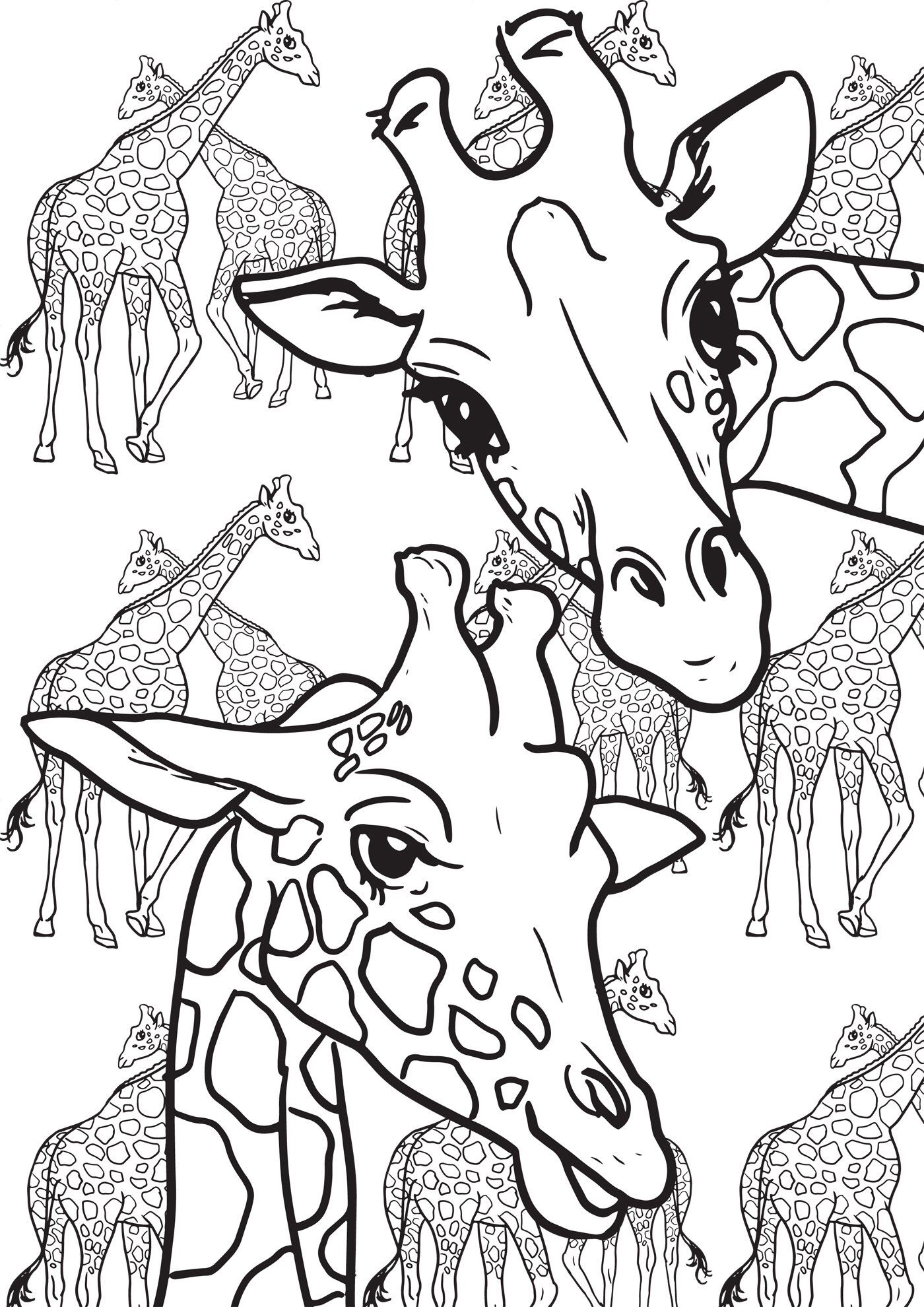 Doodle | Animal coloring pages, Giraffe illustration