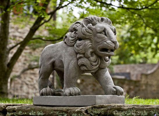 Estate Lion Cast Stone Lion Statue