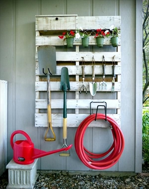 Recycled #Pallet Tool Organizer- 7 DIY Garden Projects: Anyone Can Do Easily | DIY Recycled