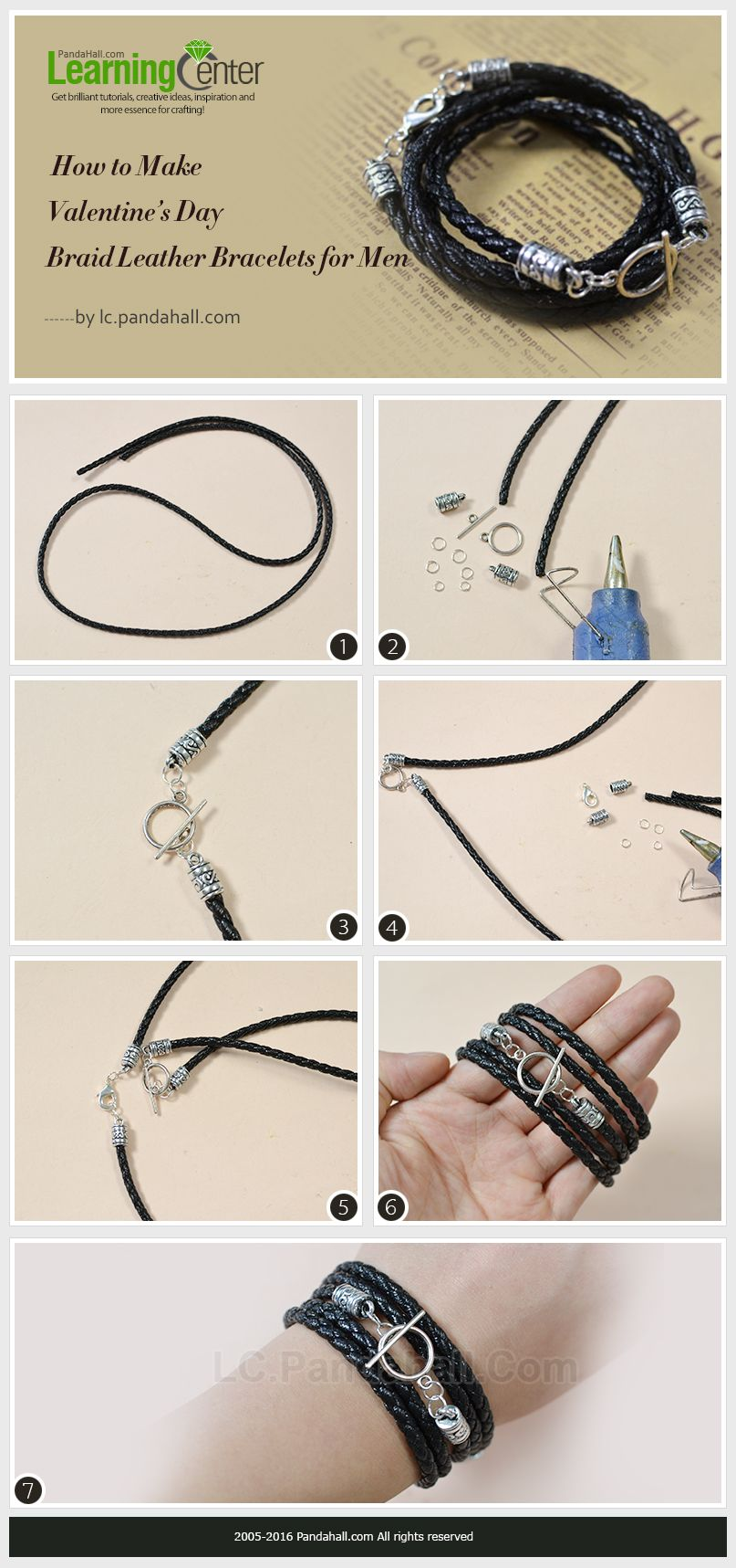 Tutorial For Valentine S Day Braid Leather Bracelets Men