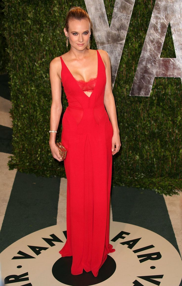 Diane kruger is exquisite in this long red gown beautiful dresses