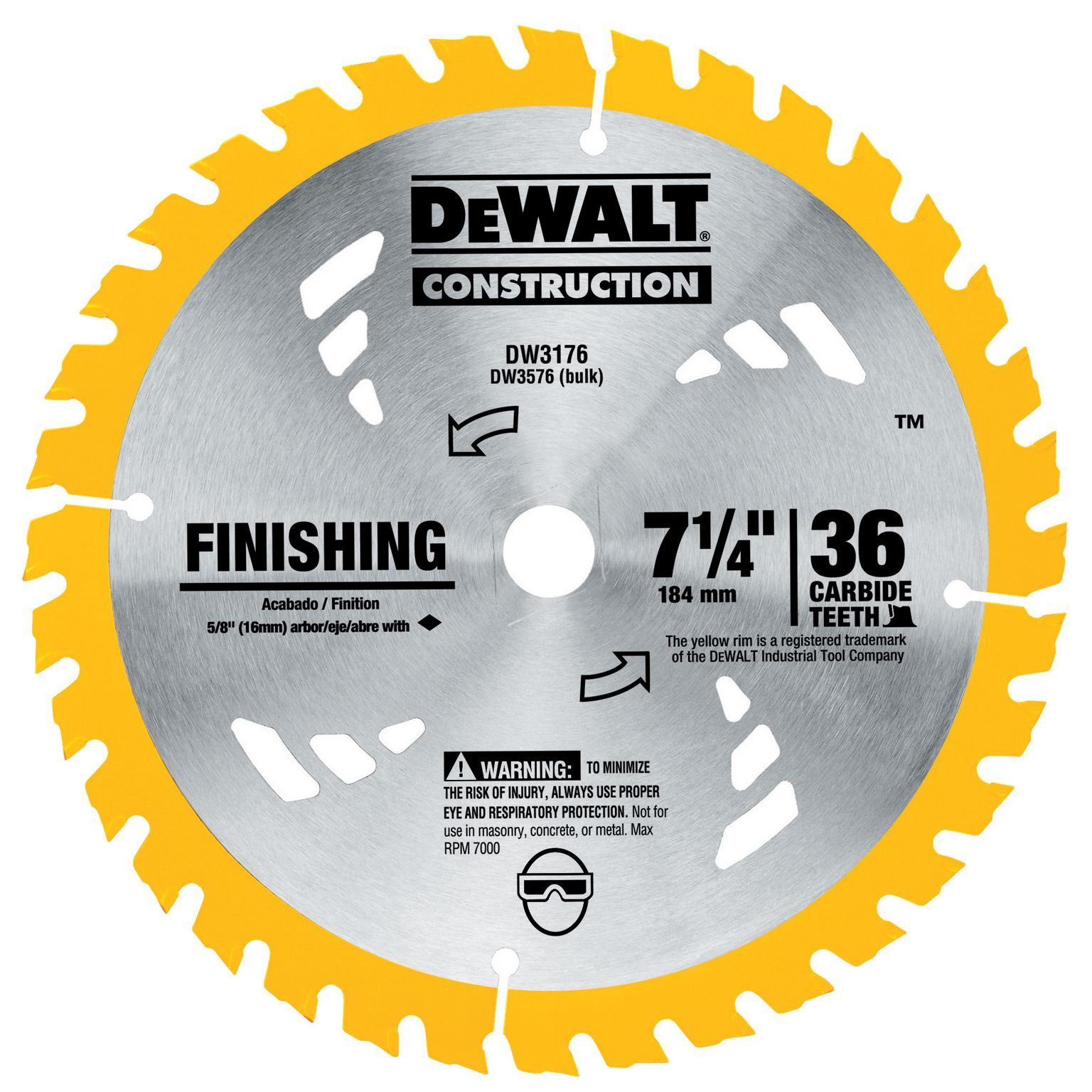 Stanley dewalt dw3176 7 14 36t finishing circular saw blade outlet store stanley dewalt dw3176 7 14 36t finishing circular saw blade keyboard keysfo Images