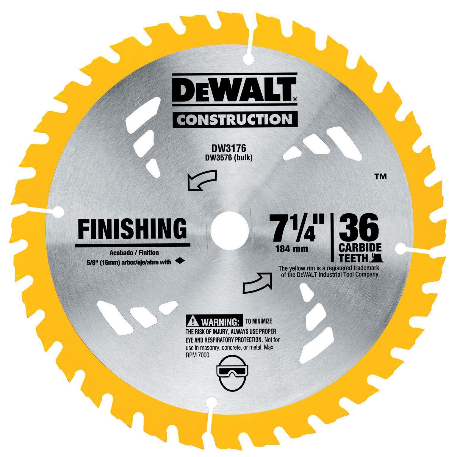 Stanley dewalt dw3176 7 14 36t finishing circular saw blade blade keyboard keysfo Gallery