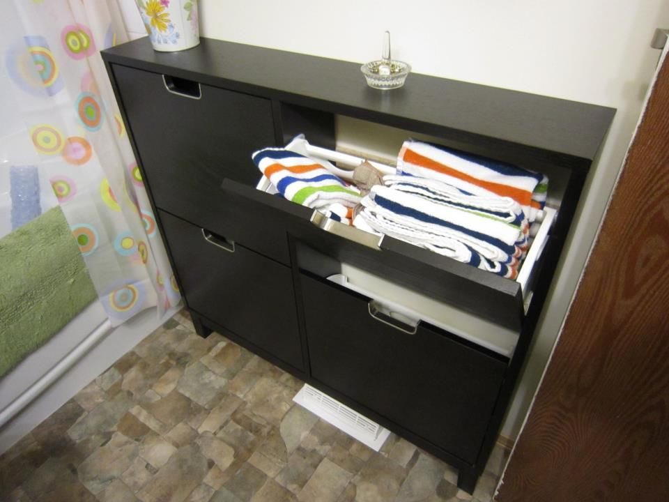 Use An Ikea Shoe Cabinet This Is Stall In A Small Bathroom To