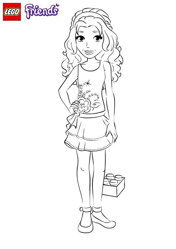 Emma Lego Friends Coloring Page Lego Coloring Pages Lego Friends Birthday Party Lego Friends