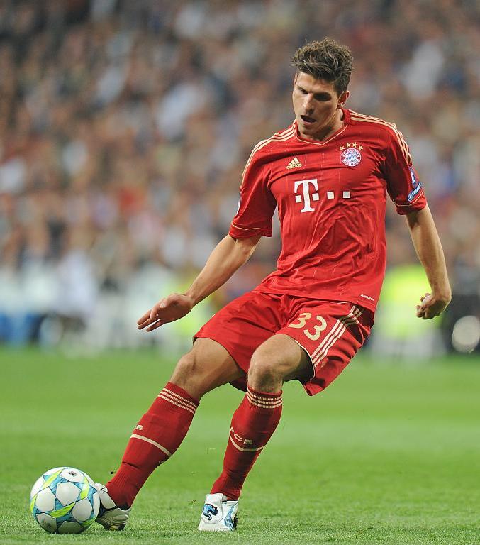 Mario Gomez Of Bayern Munich In 2012 Mario Gomez Bayern Munich Bayern