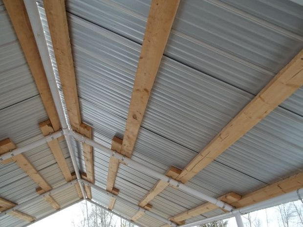 Replace Canvas Roof With Corrugated Steel Corrugated Metal Roof Corrugated Roofing Portable Carport