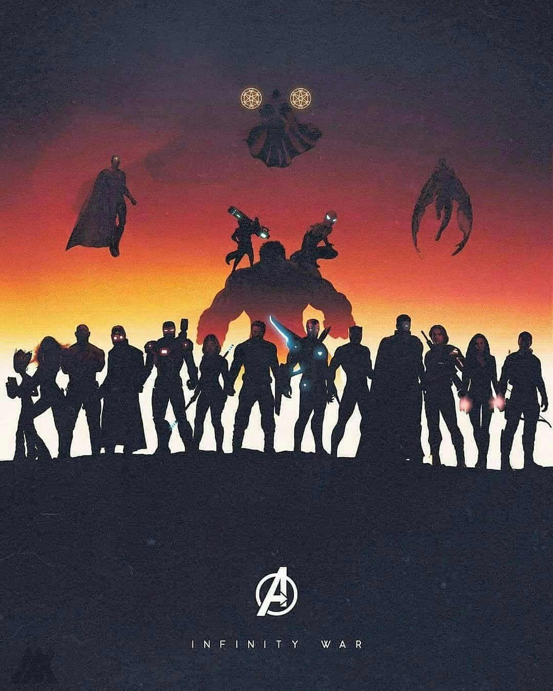 Avengers Infinite War Super Lit Poster Has All Of The Heroes In One Very Cool An マーベルヒーロー アベンジャーズ 壁紙 アベンジャーズ