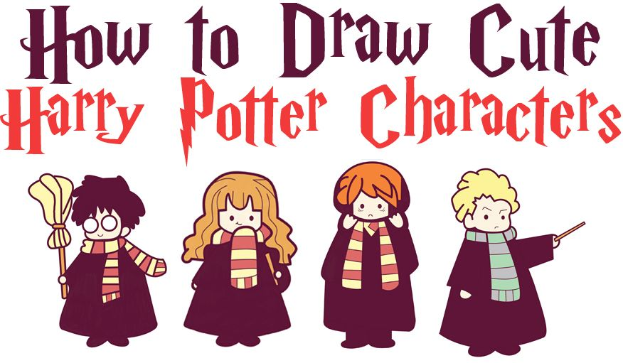 How To Draw Cute Harry Potter Characters In Cartoon Chibi Kawaii