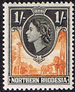 Northern Rhodesia 1953 Animals SG 70 Fine Mint SG 70 Scott 70 Other British Commonwealth Empire and Colonial stamps Here