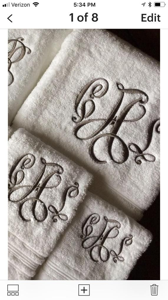 Monogrammed Towel Set Monogrammed Bath Towels Graduation Etsy Monogram Towels Monogrammed Bath Towels Monogrammed Bath