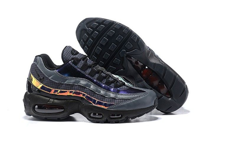 db81a5e765b Nike Air Max 95 LV8 Men s Black Ember Glow-Dark Grey Resistant Breathable  Sneakers AO2450-001