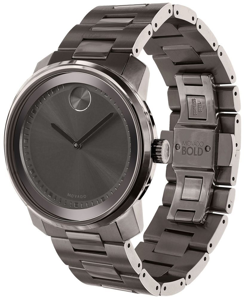 21c331ce3 Men's Movado BOLD Black Stainless Steel Watch 3600259 | Mens Fashion ...